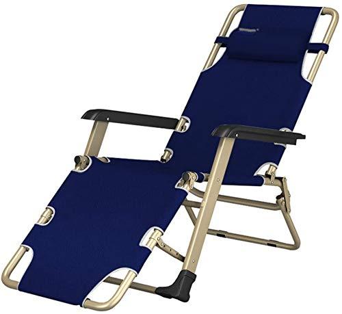 MFLASMF Productos para el hogar Sillas reclinables Tumbona |Silla reclinable Plegable |para niños Adultos |Silla Relajante para Acampar al Aire Libre para Acampar en la Playa, Patio, ja