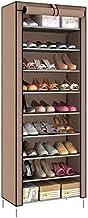 رف منظم لخزانة الاحذية مكون من 9 طبقات لون بني