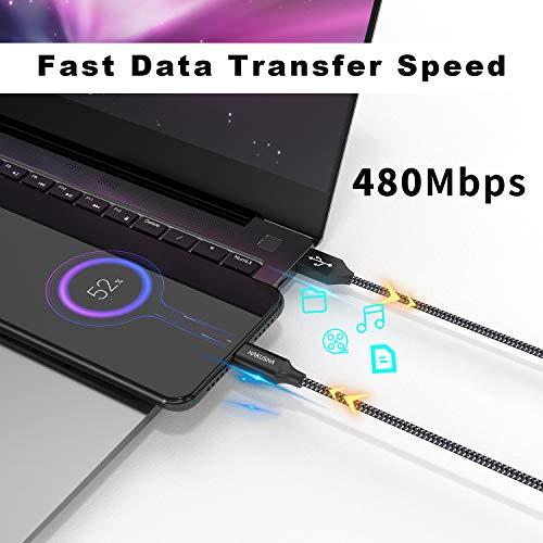 HAKUSHA Micro USB Kabel,4 Pack[0.5M 1M 2M 3M] Nylon Micro USB Ladekabel Schnellladekabel High Speed Handy Datenkabel für Samsung Galaxy S7/ S6/ J7/ Note 5,Xiaomi,Huawei, Wiko,Motorola,Nokia,Kindle