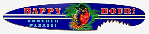 Classic Happy Hour Parrot Party Shark Bite Surfboard - 4 Footer