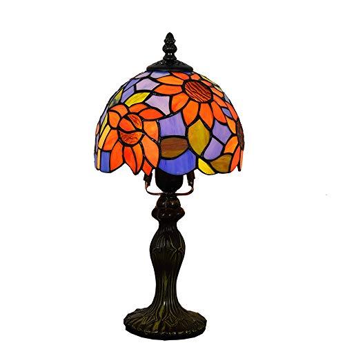 Estilo europeo, girasol para jardín, dormitorio mediterráneo, mesita de noche, mesa pequeña, lámpara de bar, hotel, personalidad mediterránea, 8 pulgadas