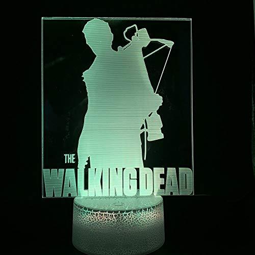Luci Film The Walking Dead Decorazioni per la casa Base luminosa Regalo di compleanno per decorazioni per camerette per bambini Lampada da notte a LED a LED