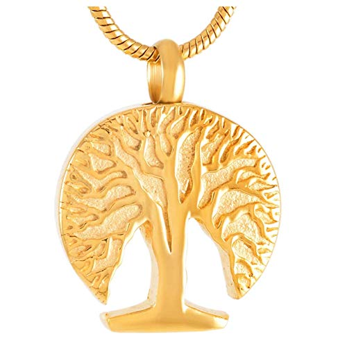 Wxcvz Colgante Conmemorativo Collar con Colgante De Joyería De Cremación con Diseño De Plantas Casual/Deportivo De Never Fade Acero Inoxidable para Mascotas/Humanos