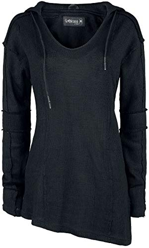 Gothicana by EMP Casual Match Mujer Sudadera con Capucha Negro S