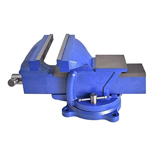 """8"""" Swivel Bench Vise 8-Inch Heavy Duty Bench Vise Clamp Vises Locking Base Top Anvil Work Bench Fit for Home and Business Application"""