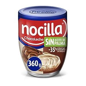 Nocilla Doble Crema de Cacao y Leche con Avellanas, Sin Aceite de Palma, 360g