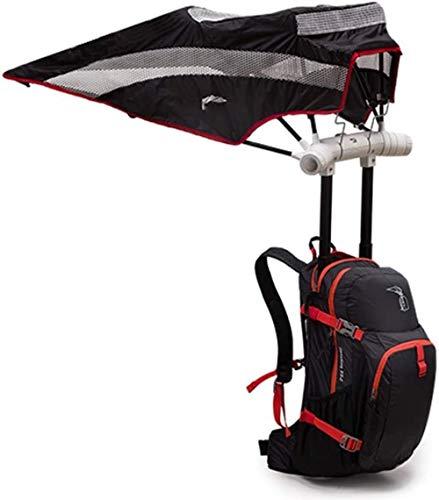 Briefkästen Sonnenschirme Leichte Rucksack, Wasserdicht Freizeit-Rucksack Built-In Regenschirm im Freienlicht Reise Sonnenschutz großer Kapazitäts-Rucksack Regenschirm