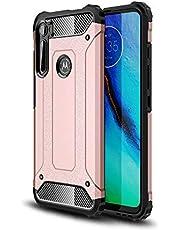 Capa para Celular Motorola Moto One Fusion Hybrid, camada dupla, Resistente, À Prova de Choque