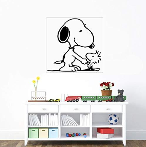 Amerikanischer Erdnuss-Comic Miguel Harrier süßer Hund Zeichentrickfigur Snoopy und Woodstock Aufkleber Wandaufkleber Jungen Mädchen Schlafzimmer Aufkleber