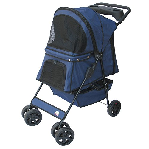 Go Pet Club Pet Stroller Blue