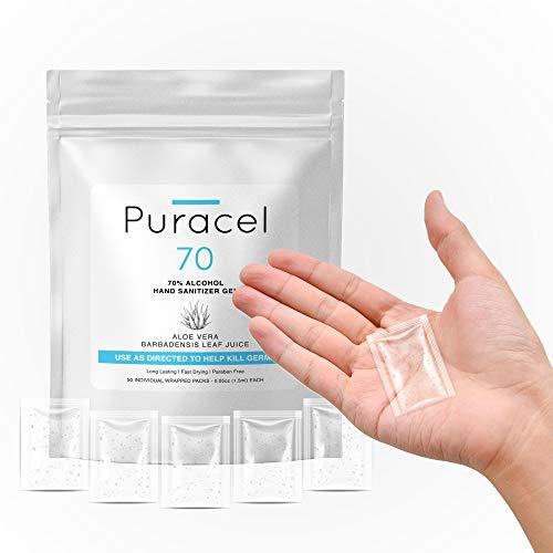 Puracel Travel Pack Hand Sanitizer 50 Pack