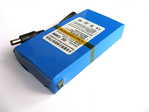 12V DC Batería Recargable Li-Ion para Cámara CCTV 6800mAh Lithium-Ion