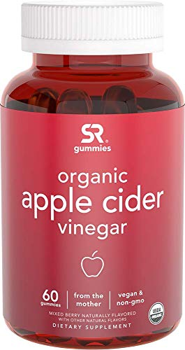 Organic Apple Cider Vinegar Gummies with The Mother | Non-GMO Verified, Vegan Certified (60 Organic Gummies)