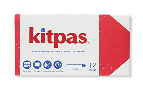 Kitpas Art Crayons Medium 12 colors