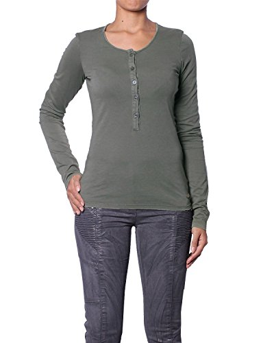 Pierre Balmain - Camiseta con Cuello Tunecino para Mujer - Verde, XS