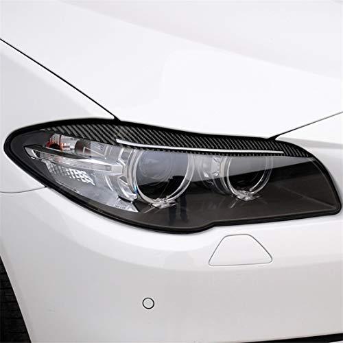 Kohlefaser Lampe Augenbraue Carbon-Faser-Auto-Lampe Augenbraue dekorative Aufkleber, Fit for BMW 5er F10 2014-2016