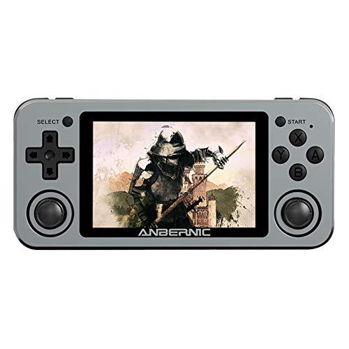 [Aktualisiert] Handheld-Spielekonsole | Neueste tragbare RG351m-tragbare 3,5-Zoll-Bildschirm-Retro-Spielmaschine | Klassische 2500/8000-Spiele | Integrierte Wifi-Online-Stereolautsprecher
