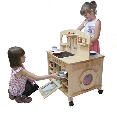Kinder-Spielküche Cinderella 2050-4-seitig bespielbar - mit 4 Feststellrollen - 6
