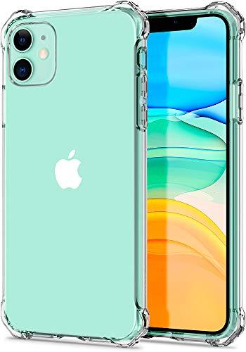 [Spigen] iPhone 11 ケース (6.1インチ 対応) TPU素材 全面クリア 耐衝撃 [ 米軍MIL規格取得 ] 傷防止レンズ保護 軽量 Qi充電 ワイヤレス充電/ラギッド・クリスタル (クリスタル・クリア) ACS00062