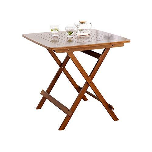 PULLEY-D Pliante Table Basse, Petit Bois repliables Place Bistro Côté for Patio Jardin Salon extérieur D