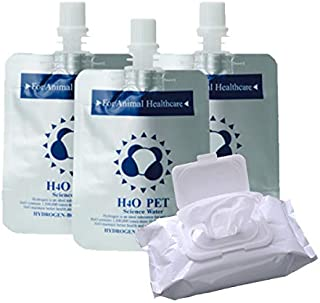 H4O ペットウォーター 30本 水素水 ウェットティッシュセット