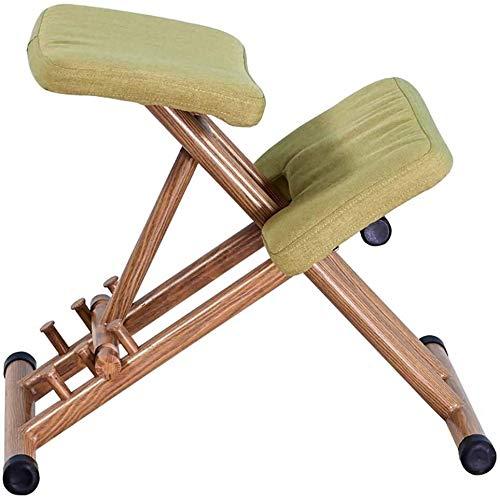 HUXIUPING Hinknien Stuhl Ergonomie Bürostuhl Fitness Stuhl Yoga Stuhl höhenverstellbar Relief Rückenschmerzen Nackenschmerzen Orthopädische Schaukelstuhl Kniesitz (Color : Silver)