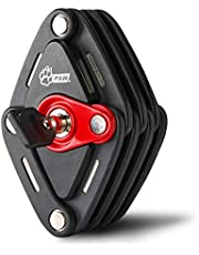 PAW ブレードロック 自転車 頑丈 コンパクト 鍵 ロック 折りたたみ式 カギ式 取付ブラケット付 取扱説明書付