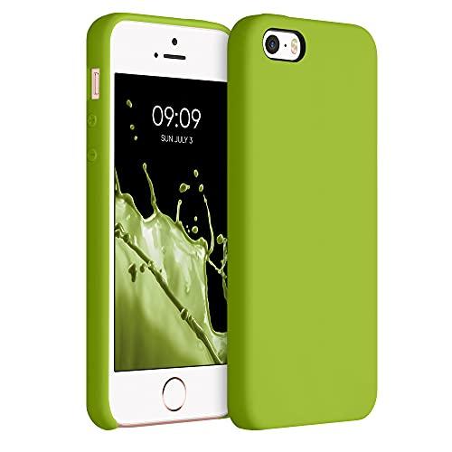 kwmobile Cover Compatibile con Apple iPhone SE (1.Gen 2016) / 5 / 5S - Cover Custodia in Silicone TPU - Back Case Protezione Cellulare Oliva Verde