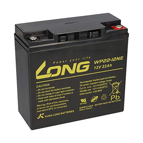 Batería compatible para cortacésped Sabo 92-13H 12 V 22 Ah ciclos recargable