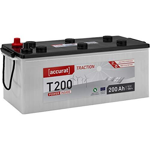 Accurat 200Ah 12V Standard Nass Versorgungsbatterie in 6 Varianten: 90-260Ah