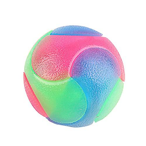 Balles lumineuses à LED pour chien, balle élastique clignotante, boules élastiques lumineuses, balle lumineuse à LED pour animal de compagnie, jouet interactif