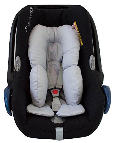 Universal Auto-Sitzverkleinerer für Gruppe 0, Maxi Cosi, Babyschale, Babywippe oder Kinderwagen. Verfügbar in mehrere Modellen und Farbene (Grundlagen Grau)