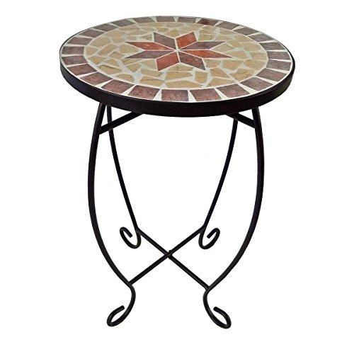 Unbekannt Blumenhocker mit Mosaik-Motiv - Blumentisch Pflanztisch Beistelltisch