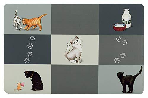 Trixie Patchwork Untersetzer, Katzen, 44x 28cm, grau