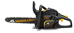 McCulloch 00096-67.669.36 Benzin-Kettensäge CS 390+ mit Nylon-Tasche, Kette, Handschuhe