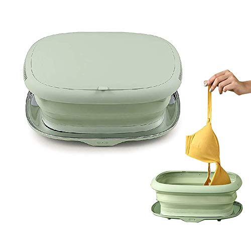 Falttrocknerbox, Schnelltrockner für kleine Haushalte, tragbarer elektrischer Trockner, faltbarer elektrischer Trockner, UV-Desinfektionstrockner, grün