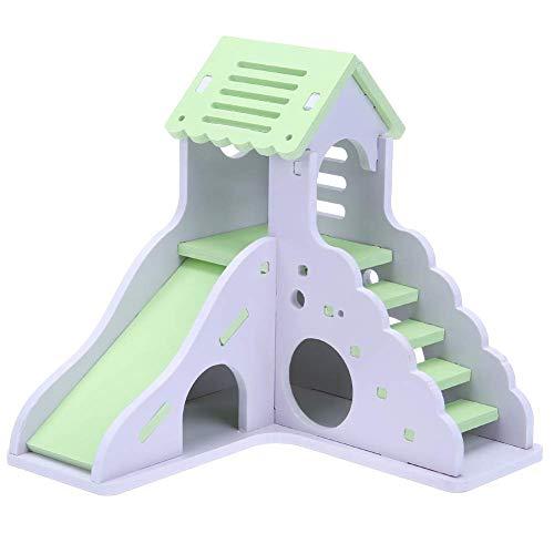 Fliyeong Mini Holz Rutsche DIY montiert Hamster Haus kleines Tierspielzeug langlebig und praktisch