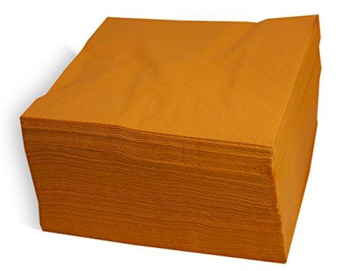 Saten ser42207310Collection, tovagliolo 40x 40, 2strati, piegati a 1/4, 100Tovaglioli, 2strati Lisa con bordo, Arancione