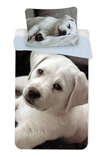 U&D Juego de ropa de cama para perros, funda nórdica de 140 x 200 cm y funda de almohada de 70 x 90...