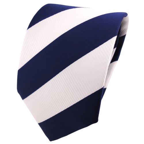 TigerTie - Corbata - azul de cobalto blanco rayas
