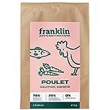Franklin - Croquettes sans Céréales – Chaton - 100% Naturel – Défenses Immunitaires – Croissance – Poulet, Saumon, Patate Douce, Carotte - 2kg