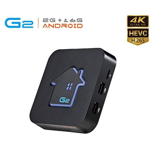 Android TV-Box, GT MEDIA G2 Android 7.1.2 TV-Box 2 GB RAM / 16 GB ROM Amlogic S905W Quad-Core 2,4 G WiFi-Unterstützung 3D 4 K H.265 Dolby HDMI DLNA Netflix Xtream Stalker Smart TV-Box