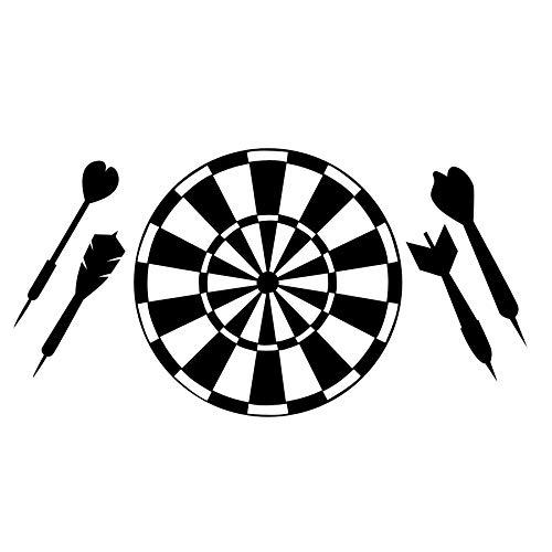 Kinderzimmer Dekorative Vinyl Abnehmbare Dart Sport Spiel Aushöhlen Dartscheibe Wandaufkleber Ausgangsdekor Club Restaurant Tapete 59x31 cm