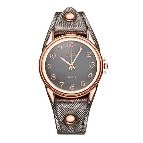 Classic Damen-Armbanduhr Analog Quarz,Luotuo Mode Uhren Leder Uhrenarmbänder und Ø31mm Legierung Dial 30M Wasserdicht Geschäft Freizeit Watch
