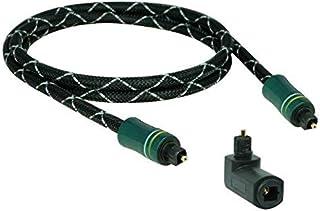 2m SunshineTronic Premium Lichtleiter Kabel Toslink hochwertiges Alu Gehäuse + Toslink Winkeladapter(360° drehbar) AL 2.0