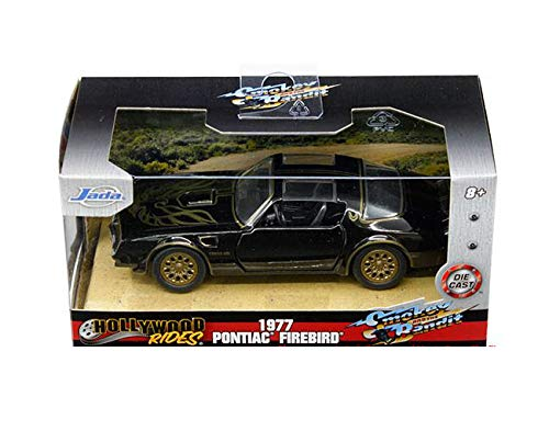 New DIECAST Toys CAR JADA 1:32 W/B - Hollywood Rides - Smokey and The Bandit - 1977 Pontiac Firebird (Black) 31061