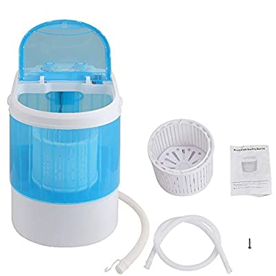 INMOZATA Washing Machine with Spin Cycle Basket 230V 3KG Load Washer Dryer Portable Mini Small Laundry Machine