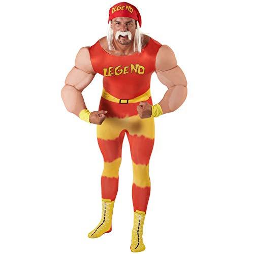 Morph Klassik WWE Wrestling Legende Halloween Karneval Kostüm für Erwachsene - XL