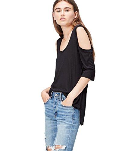 find. 70187 camisetas mujer fiesta,, Negro (Black), 38 (Talla del Fabricante: Small)