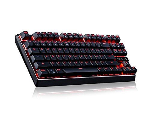 MODECOM 00086 Mechanische Gaming Tastatur Volcano LANPARTY (Blue Switch) US Layout